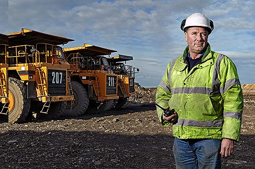 Mining Worker on Site
